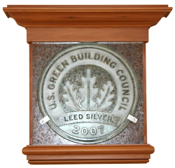 green building award plaque